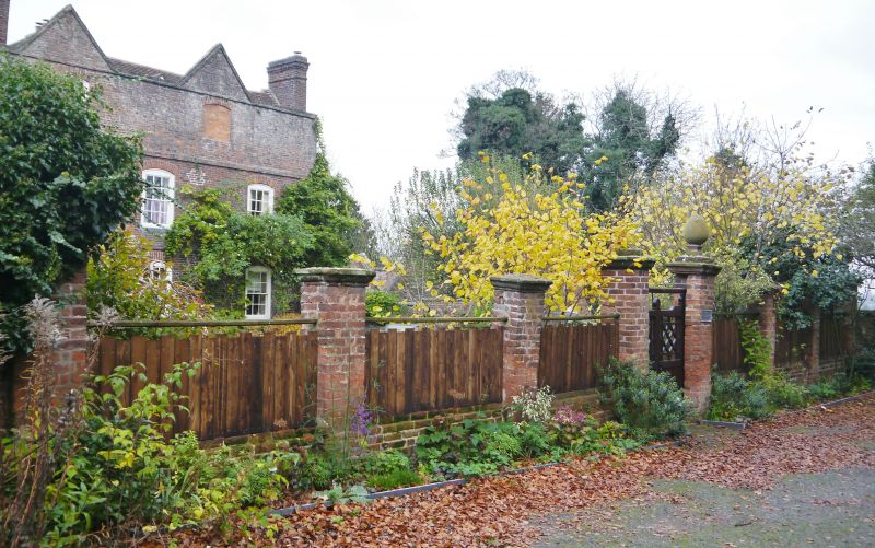 Garden Walls And Gate Piers At Rectory Stourport On Severn