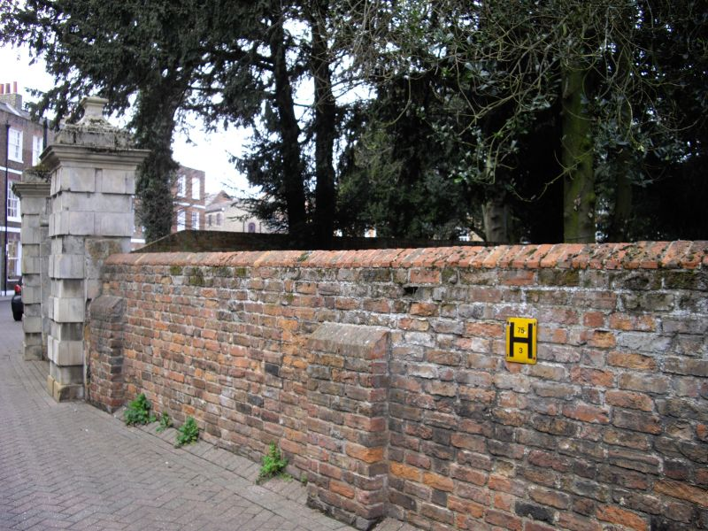 Gate Piers Three Pairs And Garden Wall To The Castle Wisbech
