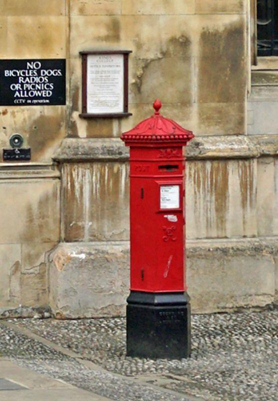 Letter Box at King's College Gate, Cambridge, Cambridgeshire