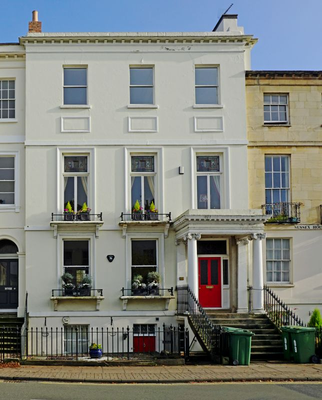 Pittville Home: Marlborough House And Attached Railings, Cheltenham