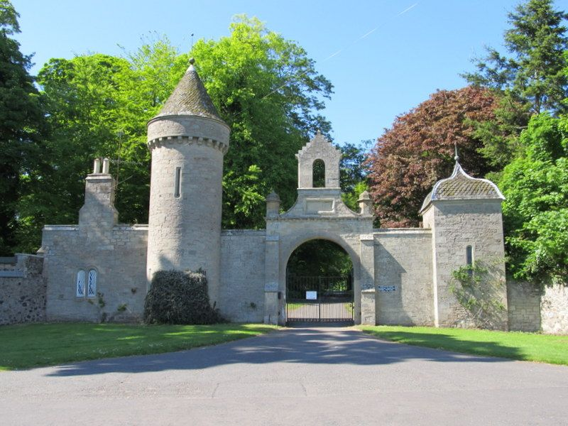Duns Castle, South Lodge, Boundary Walls Gates and Gateway